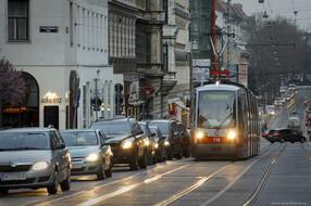 ULF auf der Linie 41 im Straßenverkehr