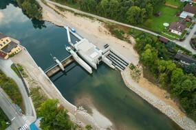 Kraftwerk Hausmening - Luftaufnahme