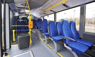 Innenansicht des neuen WLB-Busses