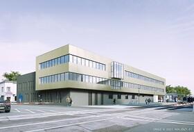 Zukünftiges Betriebsgebäude der Wiener Lokalbahnen